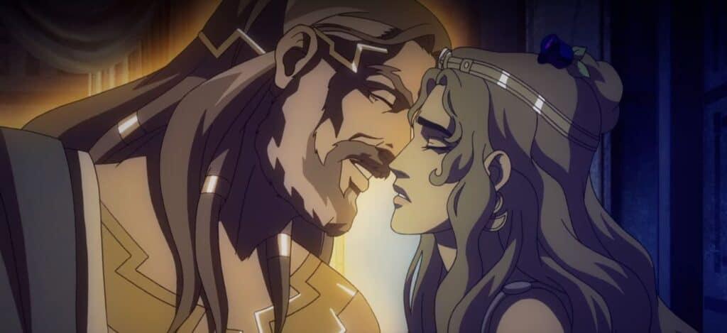 o relacionamento entre humano e deus em O Sangue de Zeus