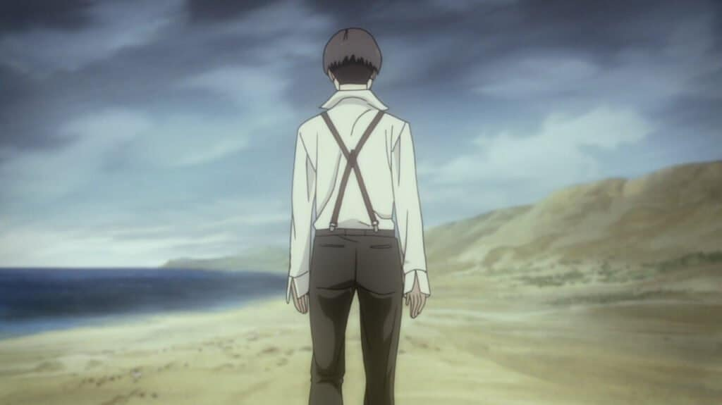 angelo andando na praia no episodio final de 91 days