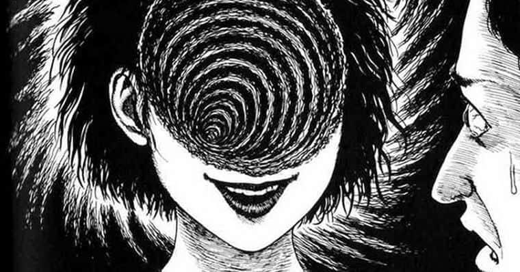 Troço estranho na cabeça da garota em uzumaki