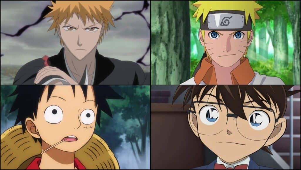 personagens de animes longos