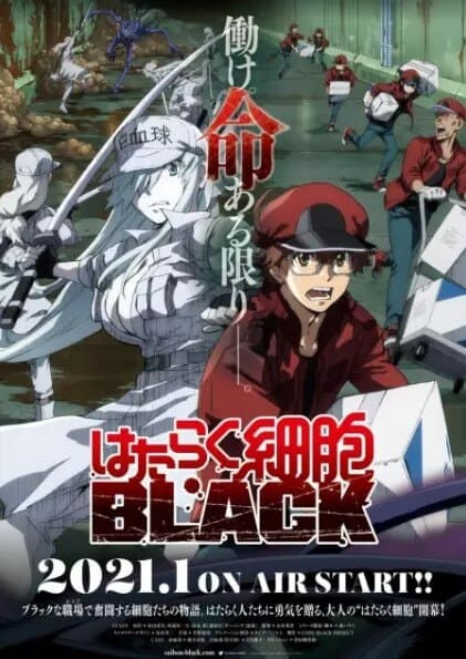 visual de cells at work code black temporada de janeiro 2021