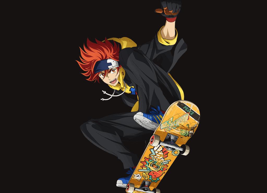 Reky fazendo um ollie em seu skate