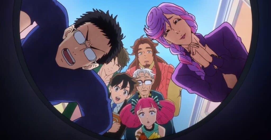 Tenchi Souzou Design-bu personagens reunidos