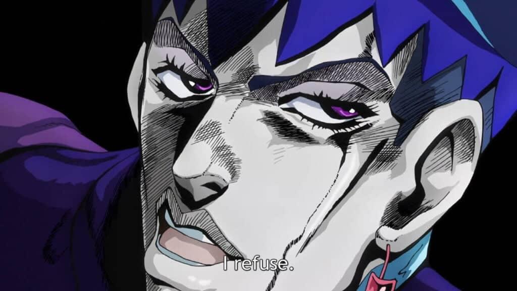 "meme daga kotowaru em jojo ""eu me recuso"""