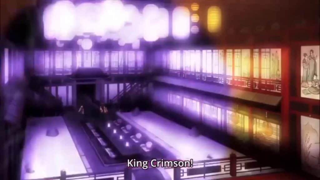 meme referente a king crimson em no game no life