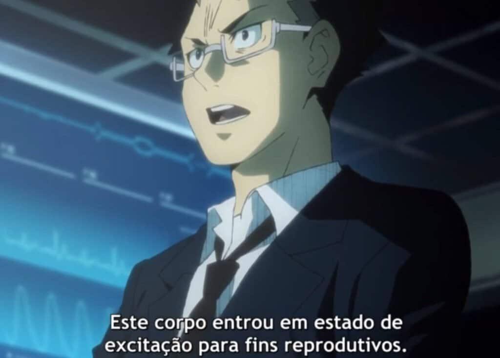 personagem de terno em hataraku saibou