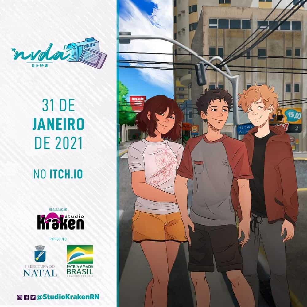 poster de divulgação do jogo visual novel brasileiro