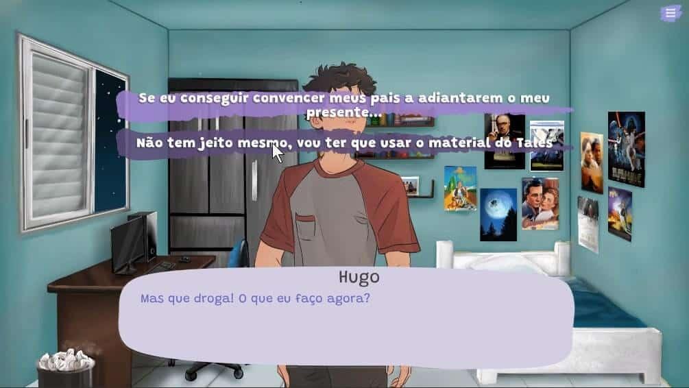 jogo de opções dentro de visual novel nvda