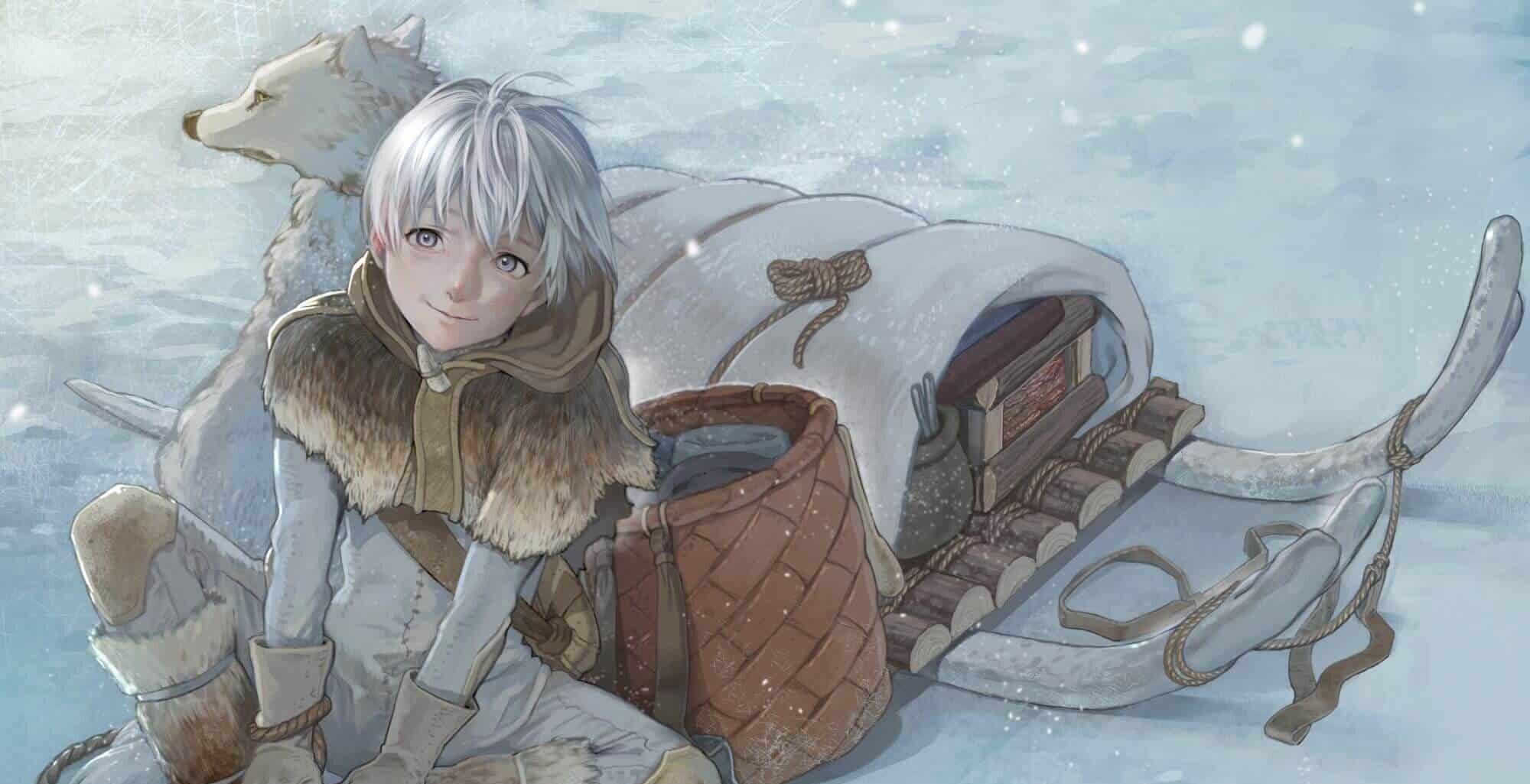 To Your Eternity - O garoto sem nome e seu lobo, sentados na neve