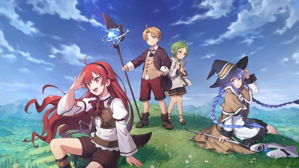 Capa Mushuko Tensei com todos os personagens principais