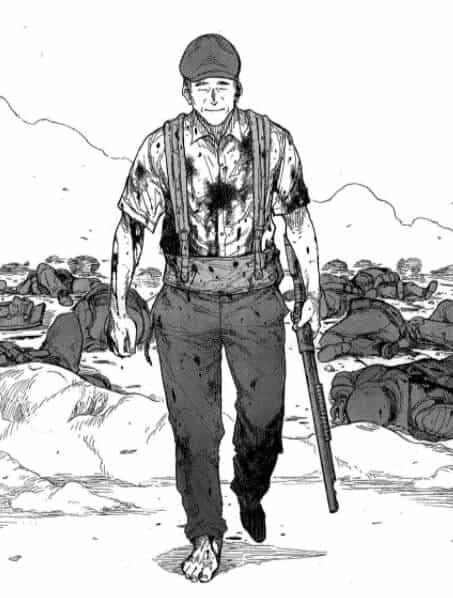 Satou após matar vários soldados