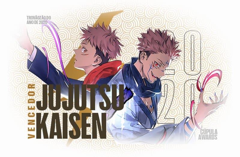 premiação do melhor anime do ano de 2020 com jujutsu kaisen