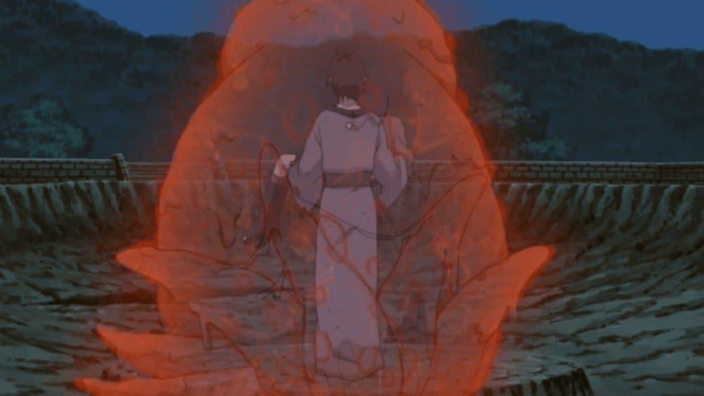 Utakata salva Hotaru com o poder do seis caudas