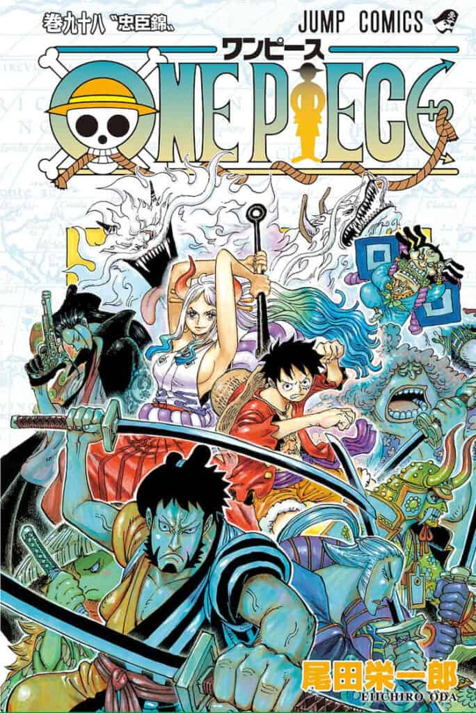 capa do volume 98 de one piece