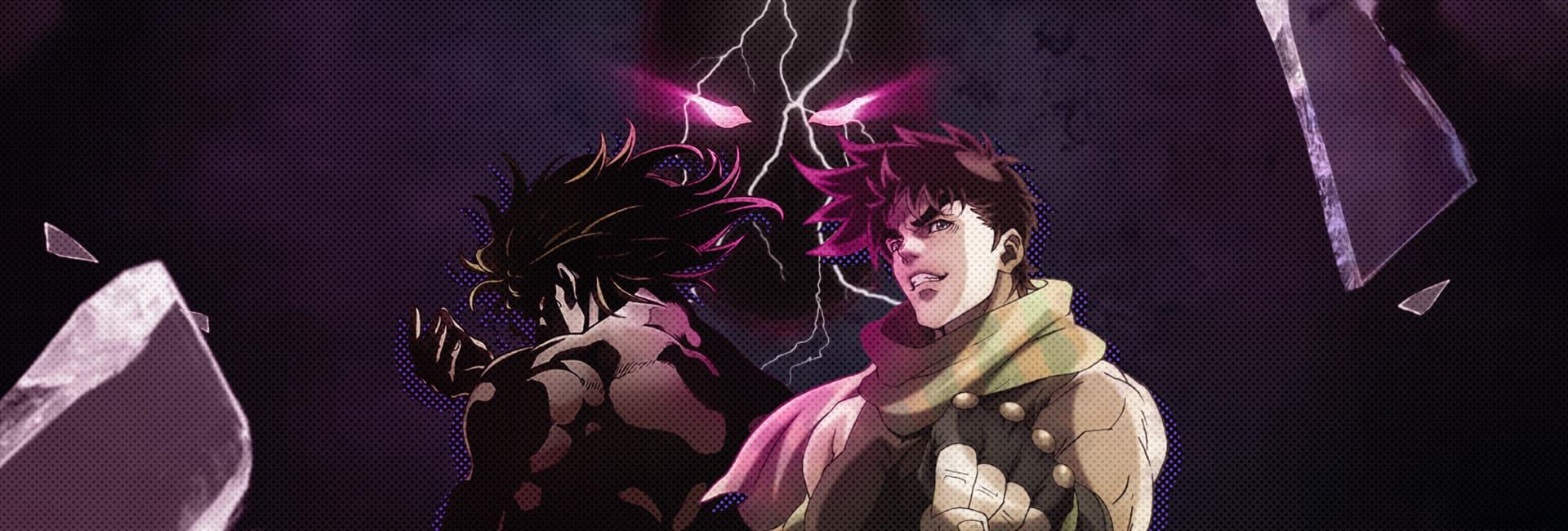 Protagonista Jojo e o vilão Dio brando