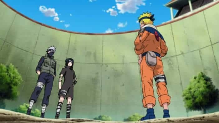 naruto e sasuke no exame chunnin