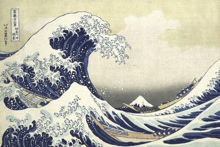 mostra em brasília. trabalho de Katsushika Hokusai