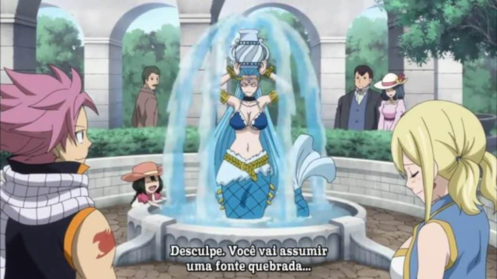 Aquarius substtuindo uma fonte quebrada