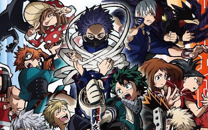 Imagem cortada do poster promocional da quinta temporada de Boku no Hero