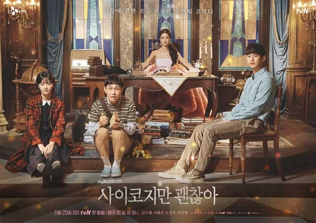 Imagem promocional da série Its Okay To Not Be Okay com os personagens principais