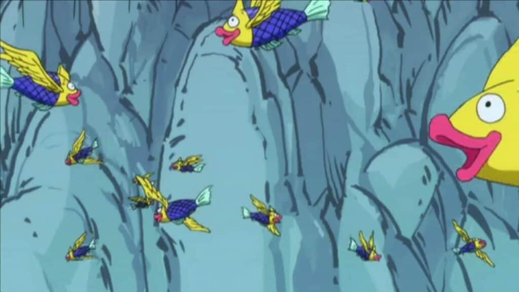 Peixes alados do filler de fairy tail