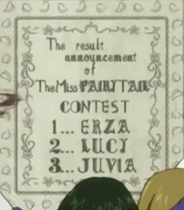 Resultado do concurso Miss Fairy Tail do filler de fairy tail