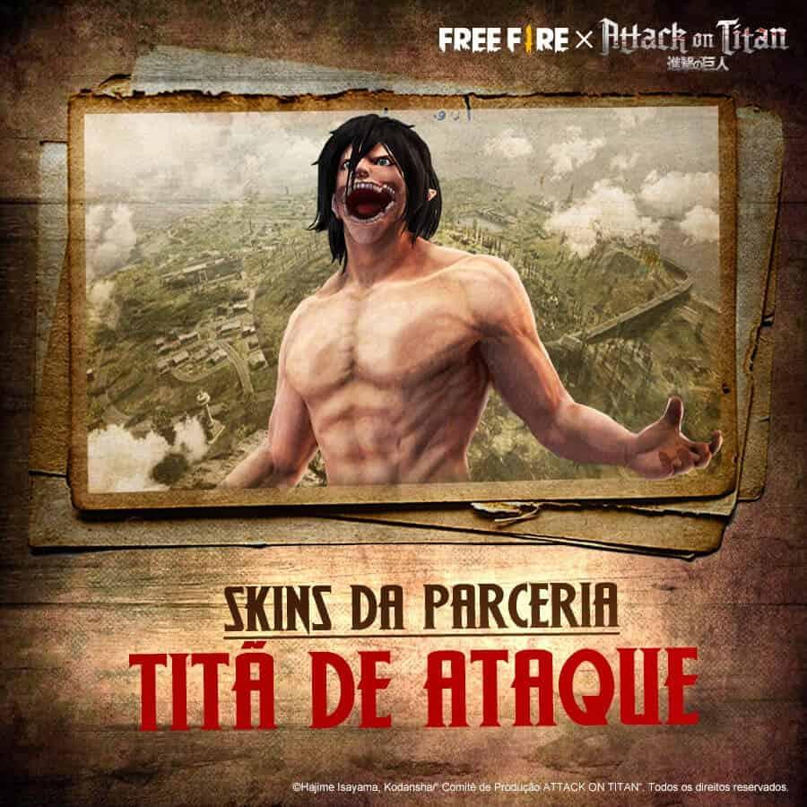 attack on titan skin de free fire