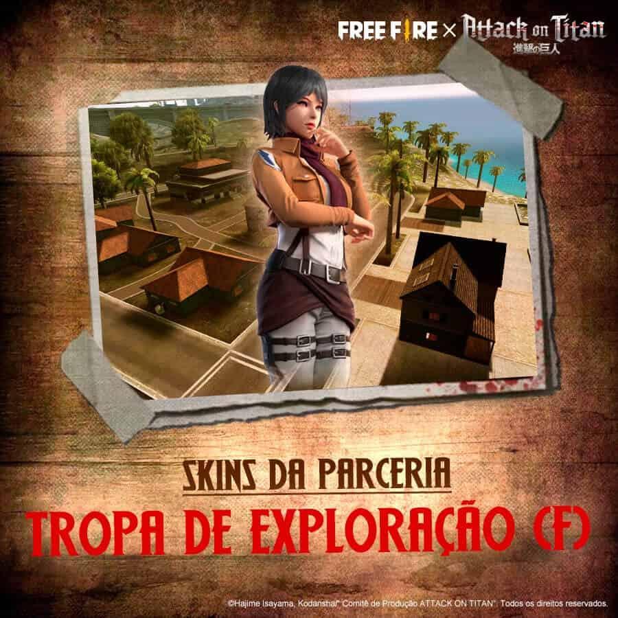 free fire skin da mikasa