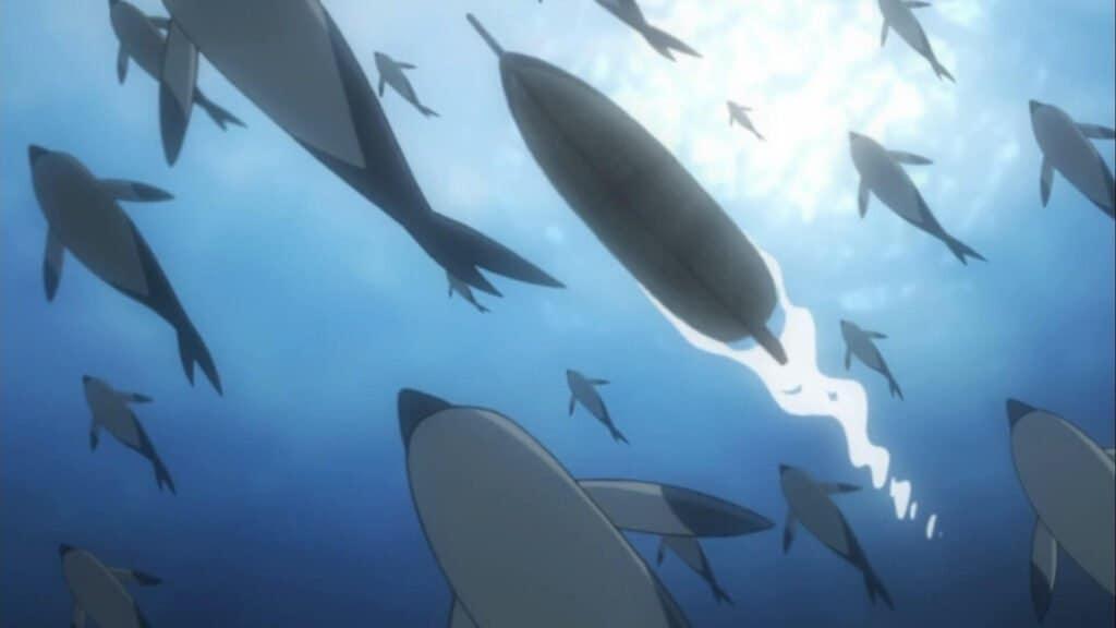 golfinhos nadando no mar