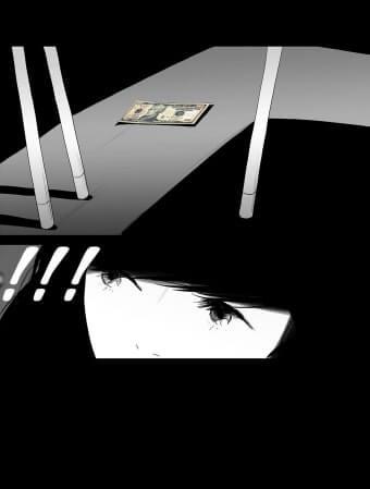 protagonista roubando dinheiro colorido