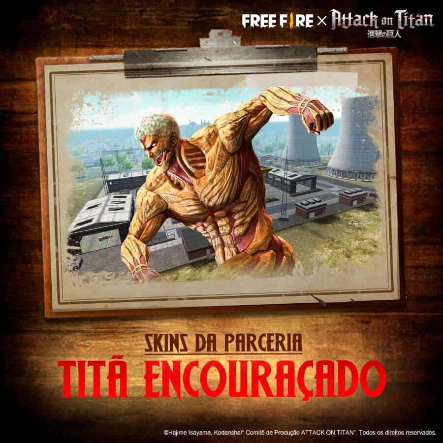 tita de aramadura skin de free fire