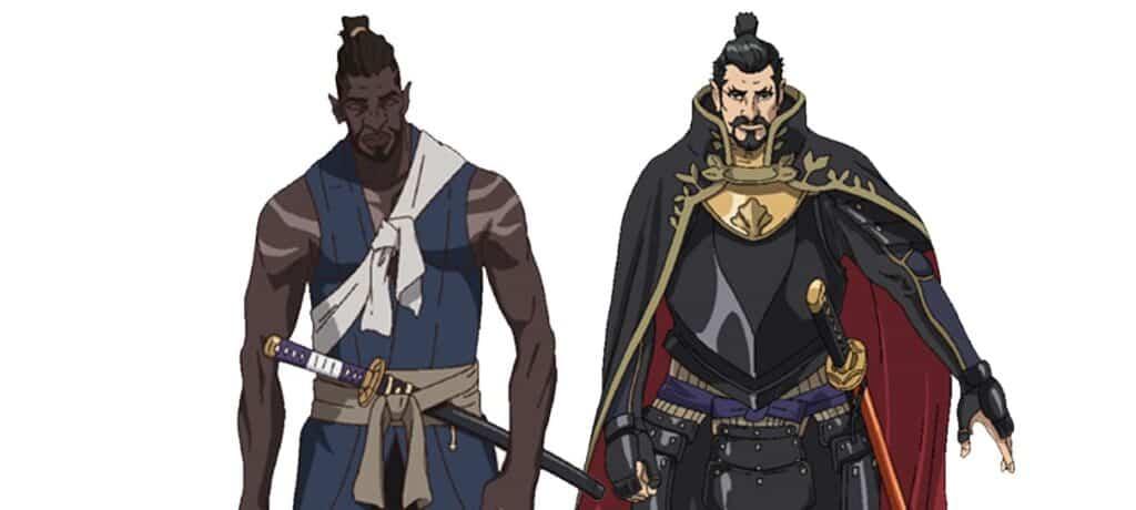 yasuke e o daimyo Nobunaga