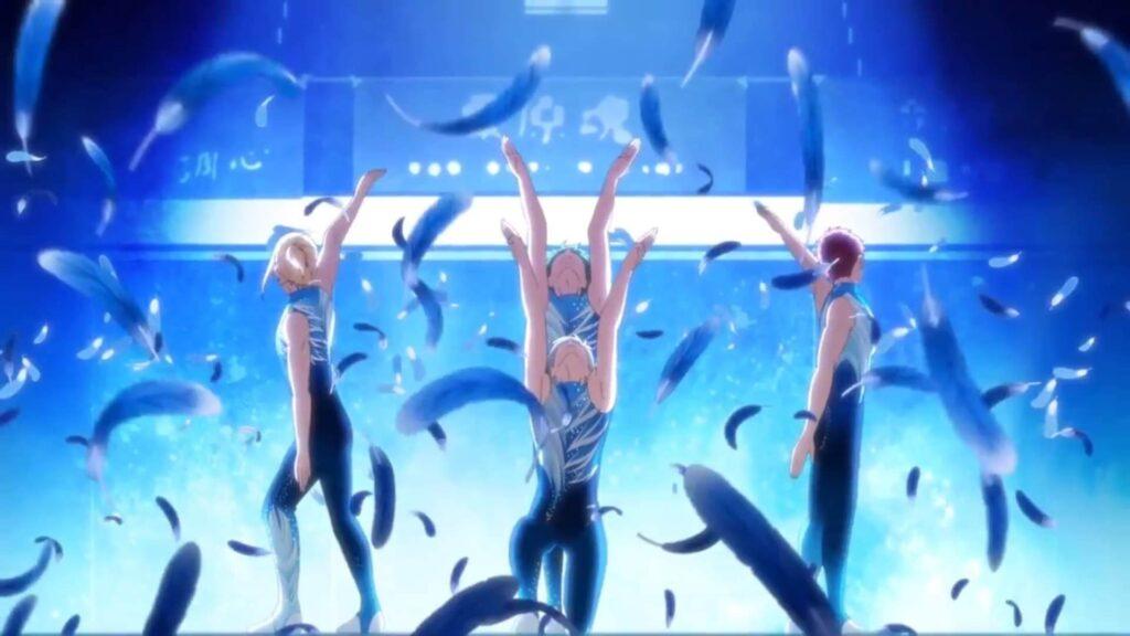 Imagem da apresentação de ginástica rítmica em Bakuten!!