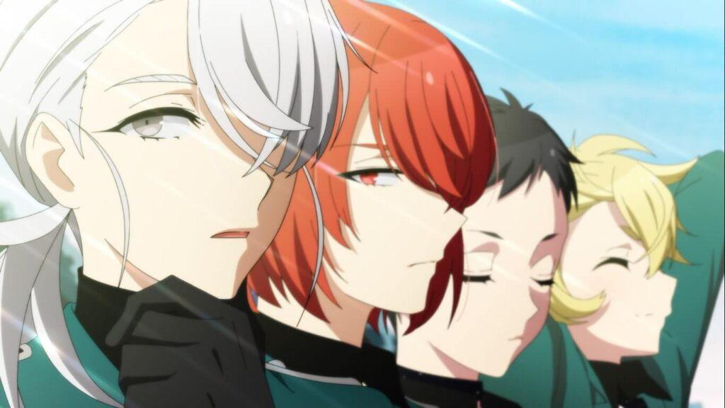 Nagahiro, Michiru, Sousaku e Hyouta, lado a lado