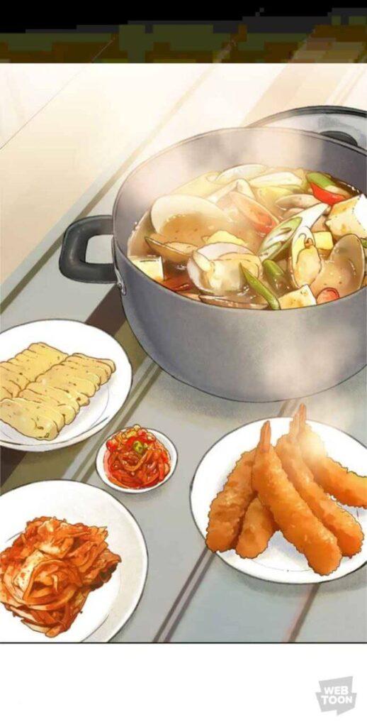 death's game webtoon imagem com comida
