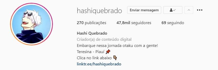 hashiquebrado perfil instagram