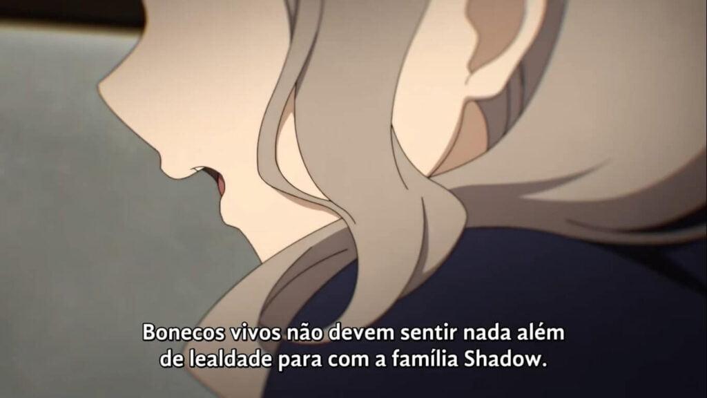 boneca falando sobre servir a família Shadow