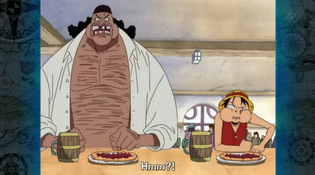 Luffy e Barba negra
