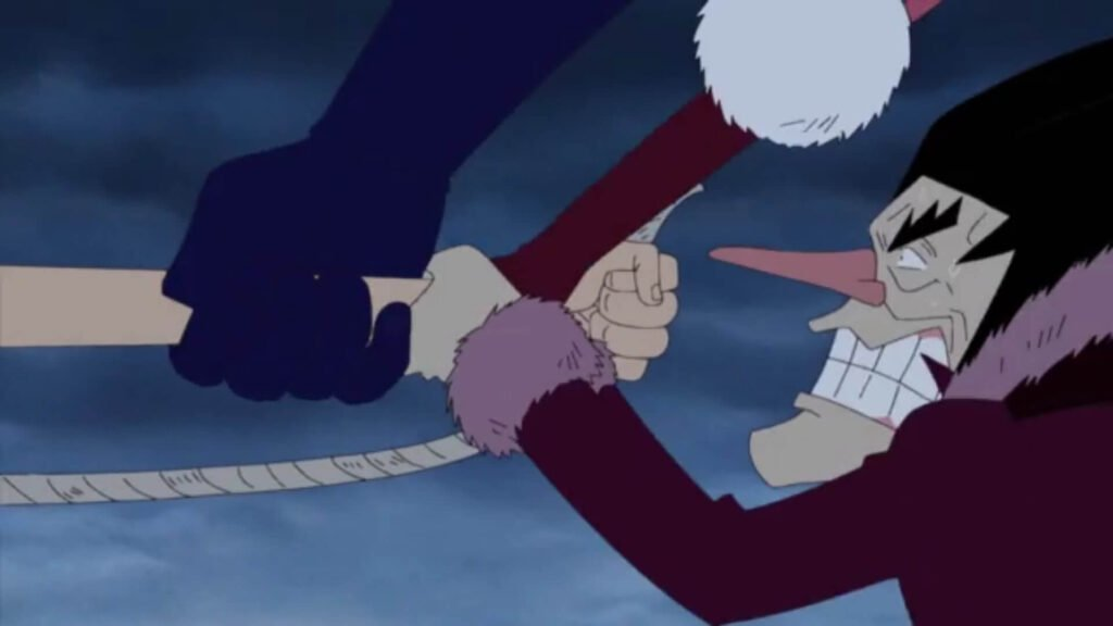 Luffy salvando Foxy