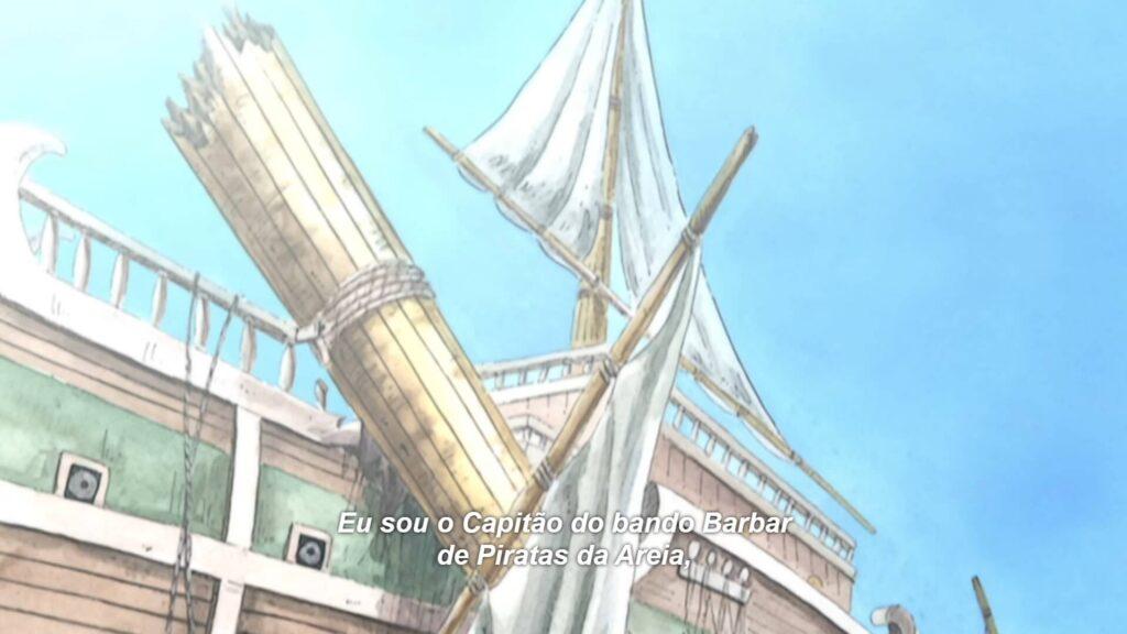 Mastro do navio destruído