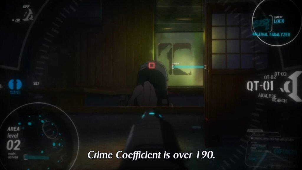 Imagem de uma Dominator avaliando o Coeficiente Criminal de uma pessoa