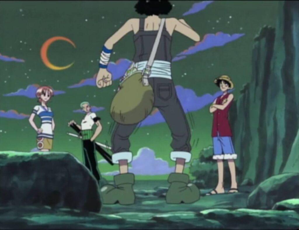 Usopp conhecendo Luffy