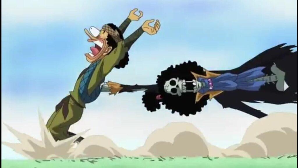 Usopp encontrou um esqueleto em filler