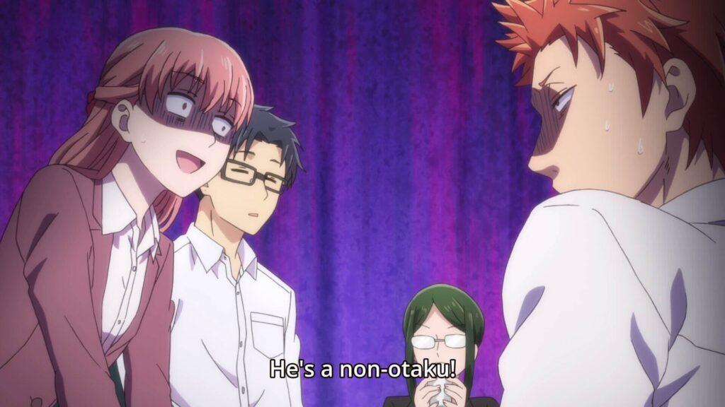 Imagem do anime Wotaku ni Koi wa Muzukashii