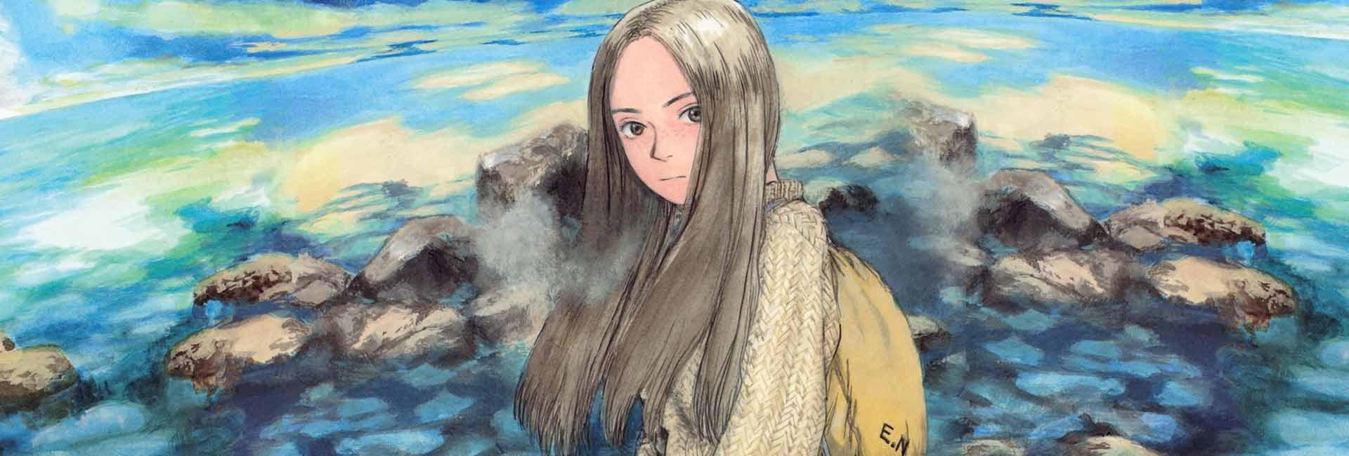 No centro da imagem Emanon está no mar, com algumas rochas acima da superfície