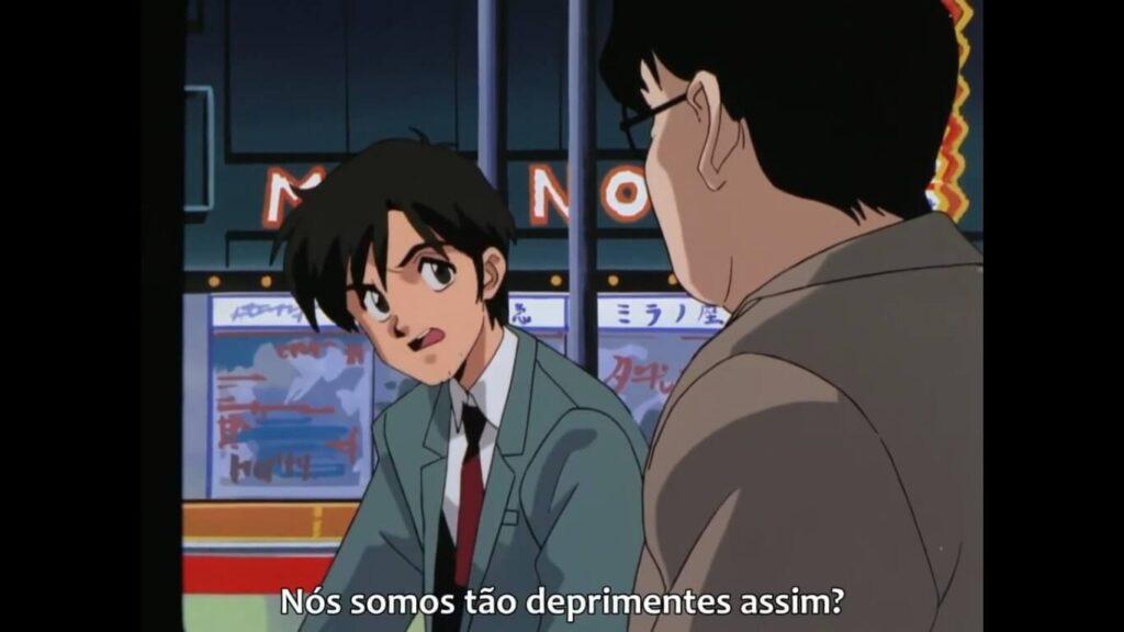 """Cena do OVA Otaku no Video com a pergunta """"nós somos tão deprimentes assim?"""""""