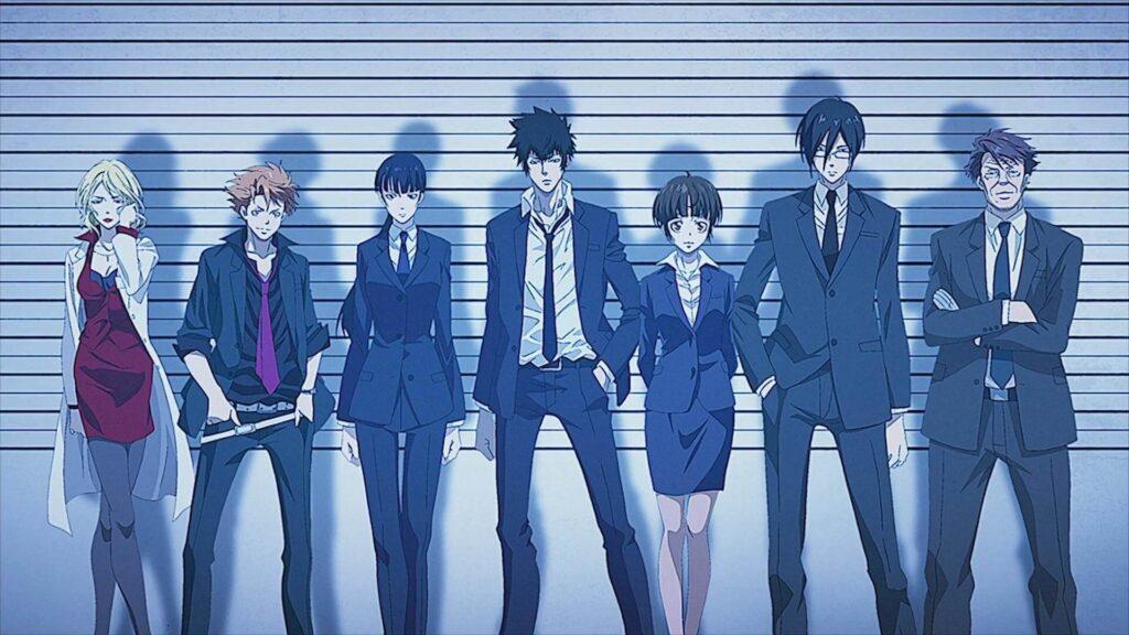 Imagem dos personagens principais de Psycho Pass