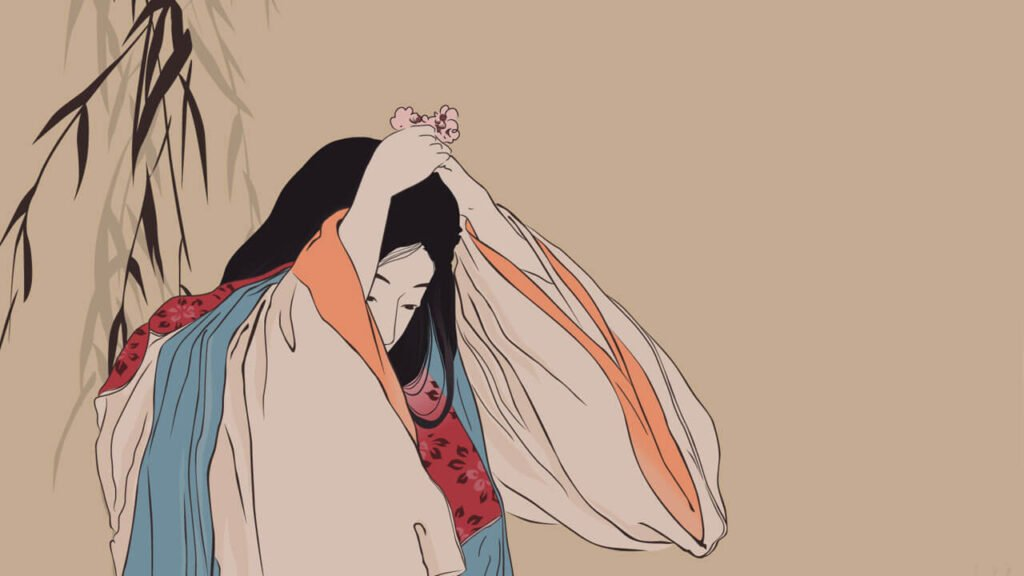 Pintura de Ayukashi anime de terror