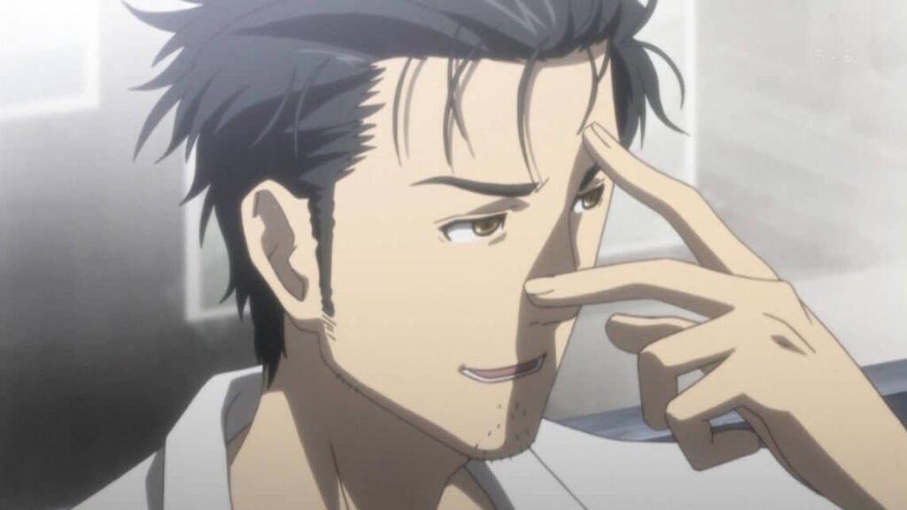 Rintarou Okabe personagem marculino de Steins Gate