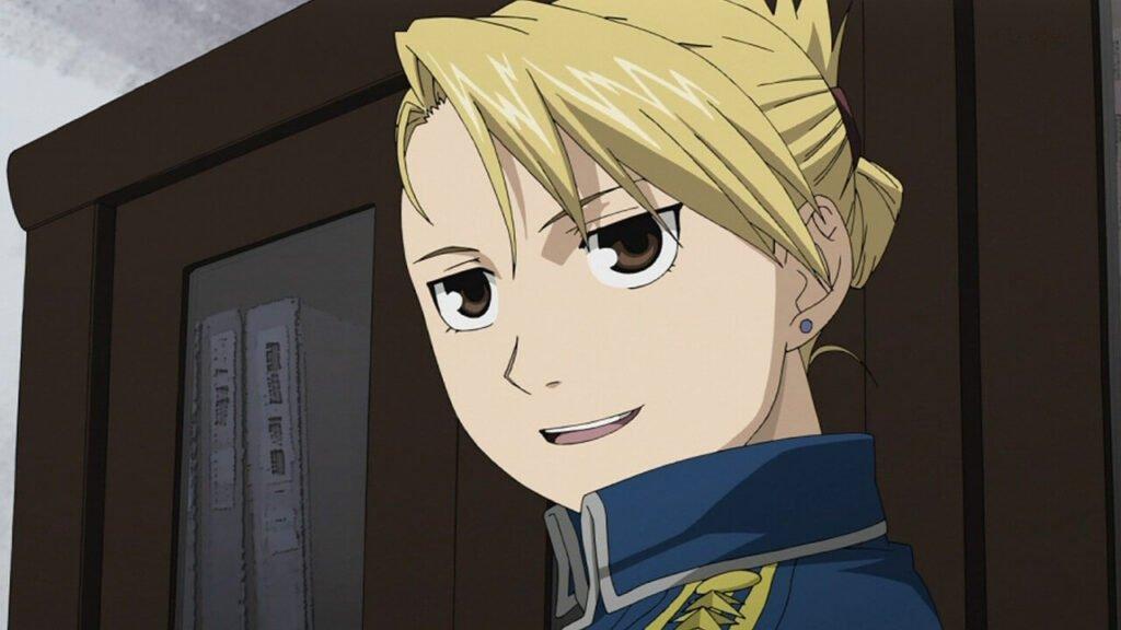 Riza Hawkeye personagem feminina do anime Fullmetal Alchemist